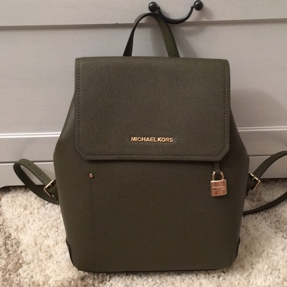 1c50a0ed36f1 Michael Kors Bags | Cconwt Hayes Md Backpack Olive | Poshmark